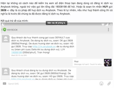 Nhiều phản ánh về dịch vụ Anybook của Viettel.