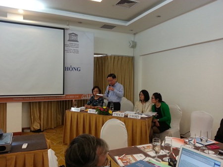 Phó Cục trưởng Cục Báo chí, ông Nguyễn Thái Thiên phát biểu tại hội thảo.