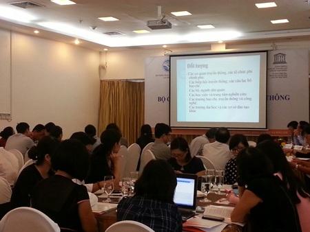 Cuộc hội thảo thu hút sự quan tâm của báo chí.