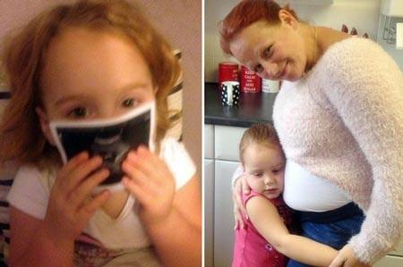 Isabella bé nhỏ ước ao được sống lâu hơn để có thể ôm em khi bé chào đời vào tháng Tư tới.