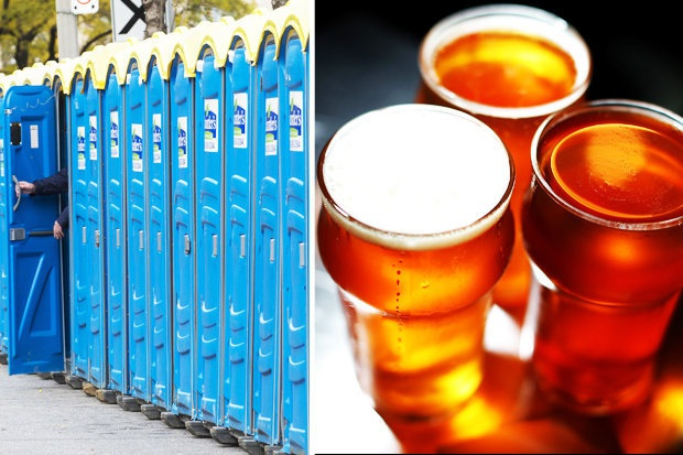 Xin nước tiểu để tái chế... bia