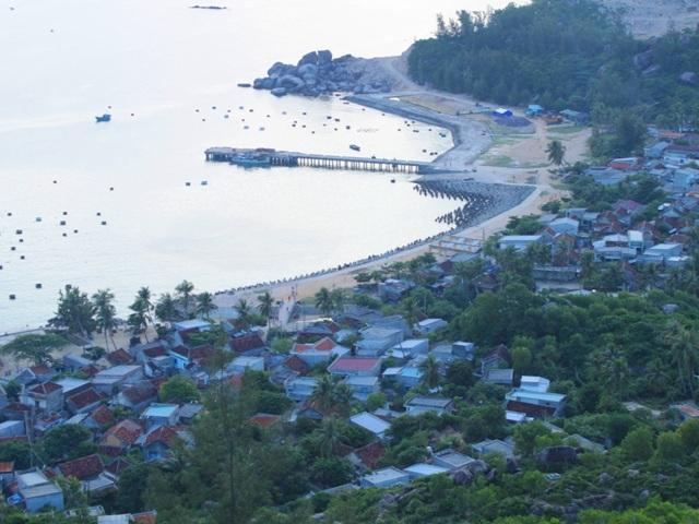 Một góc xã đảo Nhơn Châu