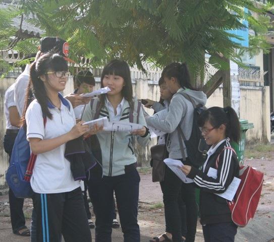 Thí sinh dự thi tốt nghiệp THPT tại Bình Định năm 2013.