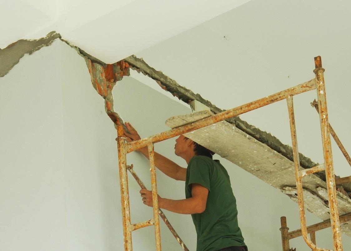 Mới đưa vào sử dụng chưa bao lâu Bảo tàng Phú Yên đã bị hư hỏng nhiều nơi
