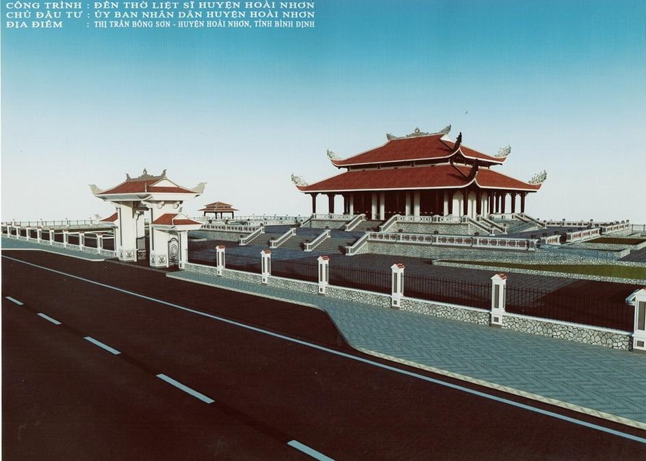 Mô hình đền thờ liệt sĩ huyện Hoài Nhơn
