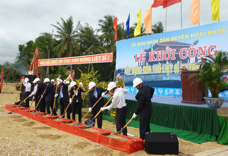 Lễ khởi công công trình đền thờ liệt sỹ huyện Hoài Nhơn
