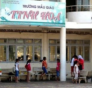 Trường mầm non Tinh Hoa nơi xảy ra vụ việc (Ảnh: Báo Lao Động)