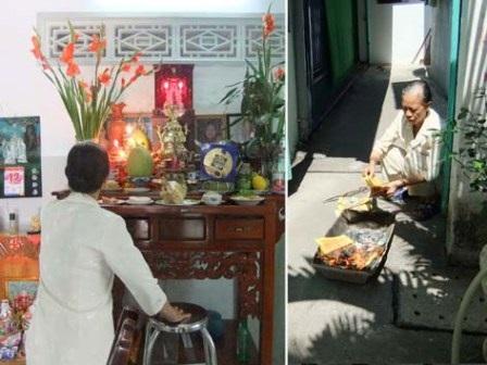 Gia đình bà Kim Thanh vẫn duy trì tục hóa vàng