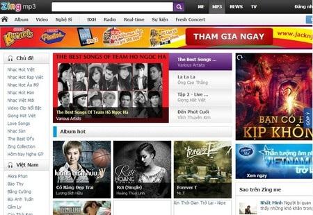 Zing MP3 là một trong những trang web nghe nhạc trực tuyến lớn nhất tại Việt Nam
