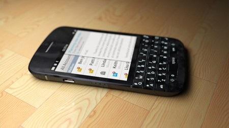 BlackBerry N10 với thiết kế bàn phím QWERTY truyền thống