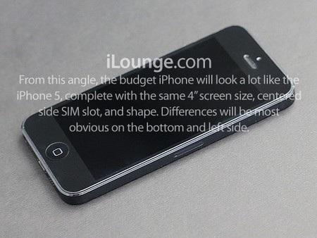 Mặt trước của iPhone giá rẻ sẽ không có gì khác biệt so với iPhone 5