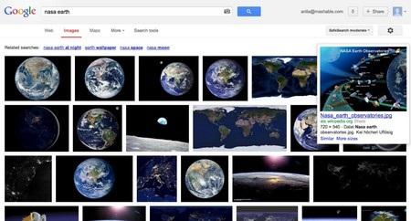 Giao diện tìm kiếm hình ảnh trước đây của Google
