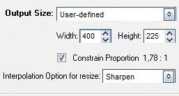 Bảng bên phải cho phép bạn thiết lập thông số của ảnh động sau khi trích xuất từ đoạn video.