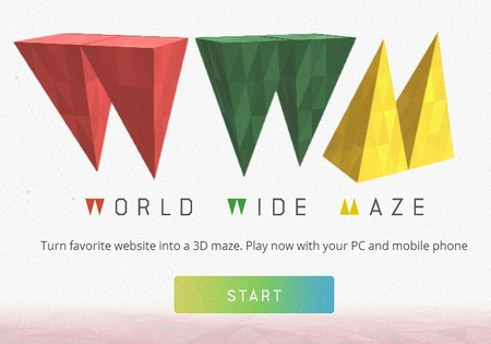 Khám phá trang web dưới dạng mê cung 3D cực thú vị và độc đáo
