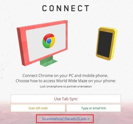 Giao diện tương tự hiển thị trên trình duyệt Chrome của Android