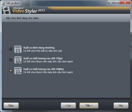 Sau đó, tiếp tục hoàn tất các bước còn lại để trích xuất file video sau khi đã thêm hiệu ứng.