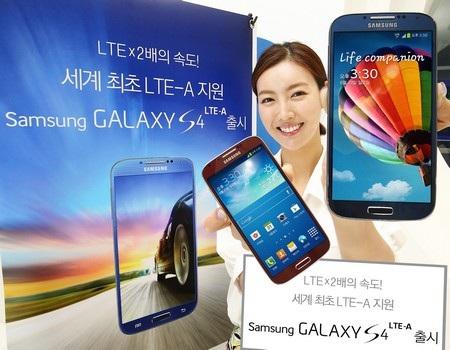 Galaxy S4 LTE-A có thiết kế giống với phiên bản Galaxy S4 thông thường
