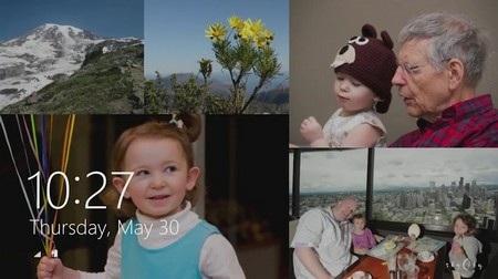Màn hình khóa của Windows 8.1 có thể dùng để trình diễn slideshow ảnh