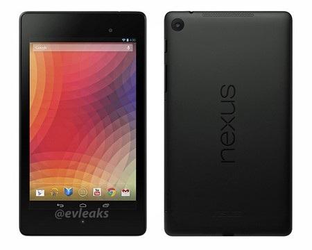 Ảnh chính thức mặt trước và mặt sau của Nexus 7 thế hệ mới, với camera chính được trang bị