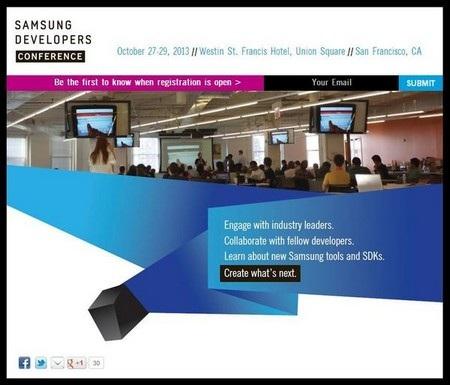 Thư mời thông báo vào sự kiện dành cho các nhà phát triển của Samsung