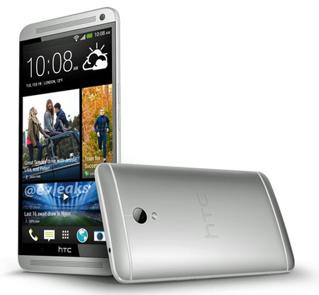Ảnh chính thức của HTC One Max cho thấy chiếc smartphone có thiết kế giống hệt HTC One