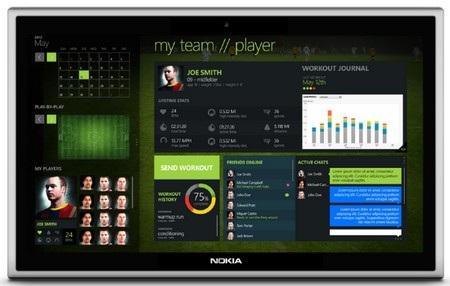 Hình ảnh ý tưởng thiết kế máy tính bảng của Nokia