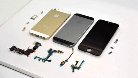 Hình ảnh mới nhất bị rò rỉ về lớp vỏ màu vàng sâm-panh của iPhone 5S