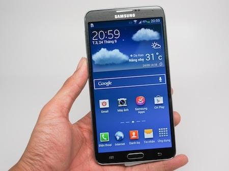 Galaxy Note 3 có màn hình rộng 5,7-inch