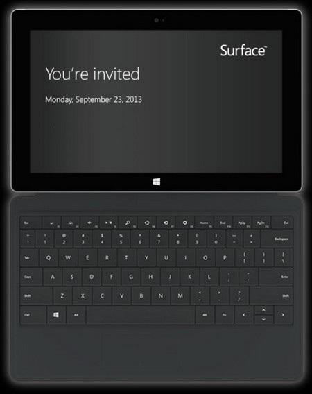 Bản nâng cấp của máy tính bảng Surface sẽ xuất hiện vào ngày 23/9