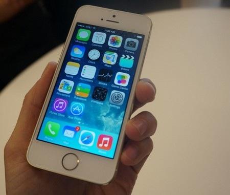 Nền tảng iOS 7 cũng nên sự khác biệt cho iPhone 5S