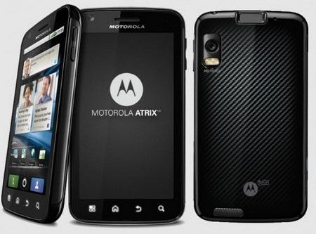 Motorola Atrix, smartphone đầu tiên được tích hợp bảo mật vân tay