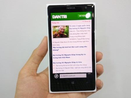 Duyệt web trên Lumia 1020