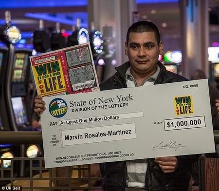 Marvin Martinez đã được vận may mỉm cười với giải thưởng lớn