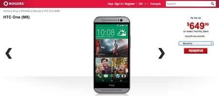 Thông tin về chiếc smartphone mới của HTC được đăng tải trên trang web của Rogers