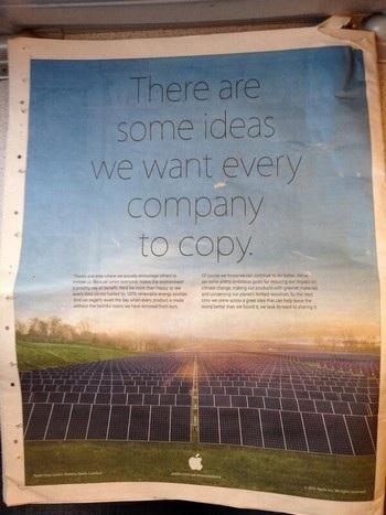 Nội dung quảng cáo được in trên các trang báo giấy lớn