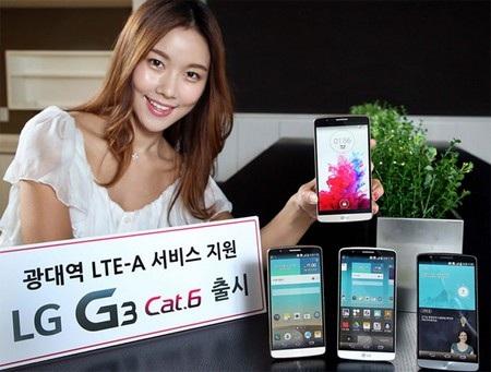 Phiên bản cao cấp của LG G3 được nâng cấp về cấu hình và hỗ trợ mạng di động nhanh hơn