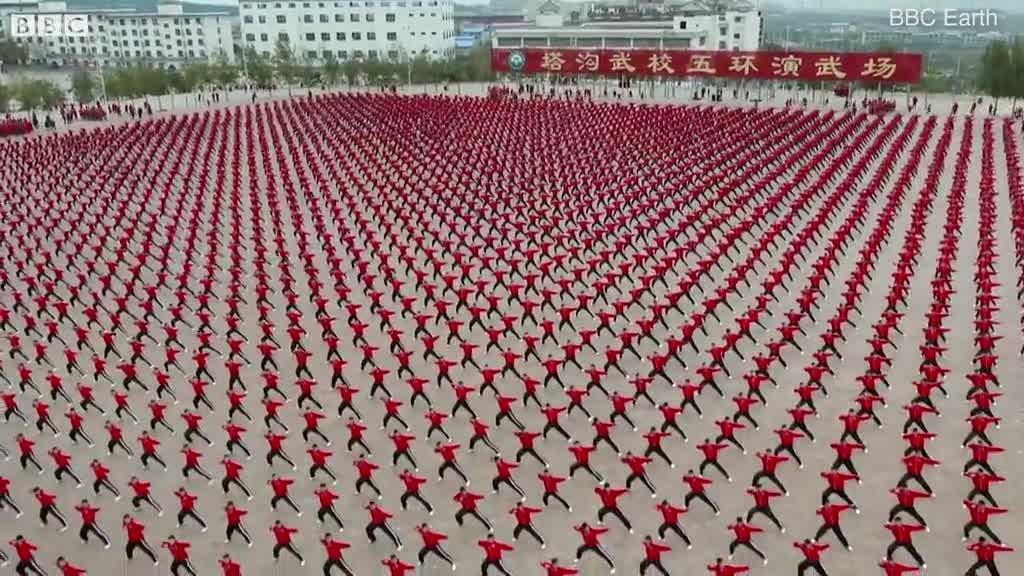 Kết quả hình ảnh cho 38.000 võ sinh Thiếu Lâm đồng diễn võ thuật