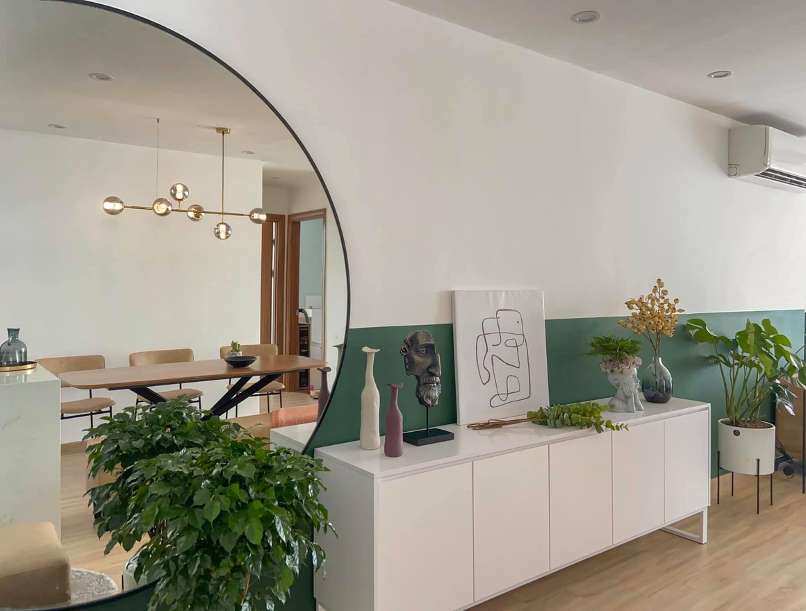 Ngắm căn hộ của gia chủ khó tính: Nội thất đẹp, lạ với tông màu xanh đậm - 4