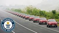 Hãng xe Trung Quốc xác lập kỷ lục đoàn xe tại lái dài nhất thế giới