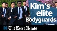 Hàng rào cận vệ chạy bộ bảo vệ ông Kim Jong-un trong các chuyến công du