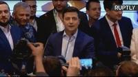 Danh hài triệu phú Ukraine ăn mừng đắc cử tổng thống Ukraine