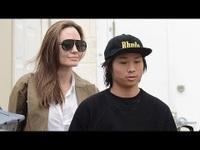 Angelina Jolie đưa Pax Thiên đi mua đồ hiệu