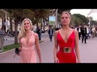 Kimberly Garner nổi bật với váy đỏ