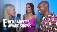 Rihanna gợi cảm với váy hồng
