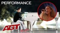 Kodi Lee song ca với nữ ca sĩ Leona Lewis trước khi kết quả được công bố