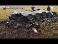 Hai xe bọc thép Nga vỡ vụn sau màn rơi tự do từ máy bay