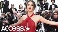 Alessandra Ambrosio rực rỡ với váy đỏ