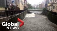 """Cảnh tượng đổ nát khi siêu bão """"Quái vật"""" tàn phá Nhật Bản"""