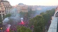 Xung đột giữa cảnh sát Pháp và đám đông cổ động viên quá khích