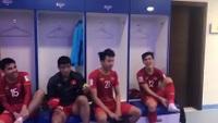 Video đội tuyển Việt Nam ăn mừng trong phòng thay đồ